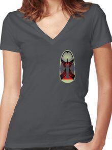 Tiki Masks - Ceratopsian Women's Fitted V-Neck T-Shirt