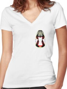Tiki Masks - Hadrosaur Women's Fitted V-Neck T-Shirt