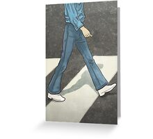 The Beatles George Harrison Abbey Road Zebra Crossing Greeting Card