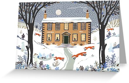 Winter foxes, Haworth Parsonage by Amanda White