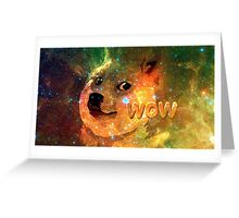 Doge In Space Greeting Card