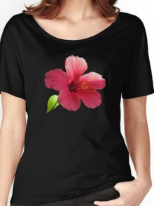 Pink hibiscus Women's Relaxed Fit T-Shirt