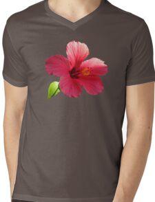 Pink hibiscus Mens V-Neck T-Shirt