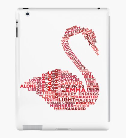 Emma Swan Typography Once Upon A Time iPad Case/Skin