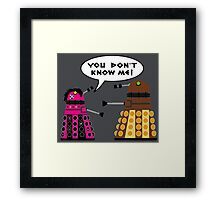 Teenage Dalek Framed Print