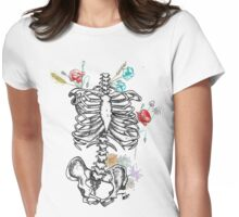 Ornate skeleton Womens Fitted T-Shirt