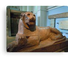 Egyptian guard lion Canvas Print