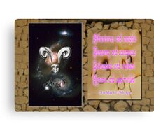 Aries and Horoscope Canvas Print