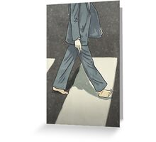 The Beatles Paul McCartney Illustration Abbey Road Zebra Crossing Greeting Card