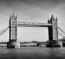 Tower Bridge 01 B&W by Paul Croxford
