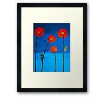 Poppy in Blue Framed Print