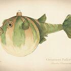 Ornament Pufferfish Christmas Fish by Ashly Bohinc by SharksEatMeat