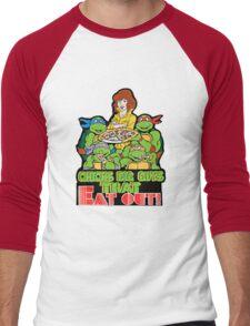 Chicks Dig Guys That Eat Out Men's Baseball ¾ T-Shirt