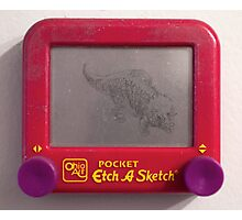 Triceratops Etch-a-sketch Photographic Print