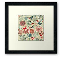 Cute Doodle Pattern Framed Print