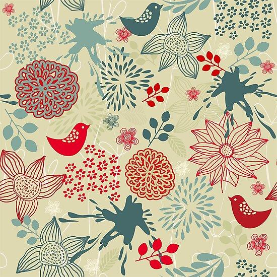 Cute Doodle Pattern by Nataliia-Ku