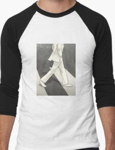The Beatles John Lennon Illustration Abbey Road Zebra Crossing Men's Baseball ¾ T-Shirt