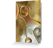 A Touch of Silver and Gold Greeting Card