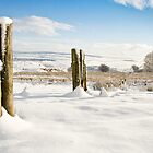 View over Cwmbran from Mynydd Maen, Snow. by Paul Croxford