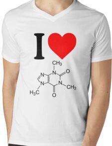 I Love Caffeine Mens V-Neck T-Shirt