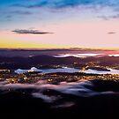 Hobart City Lights from Mount Wellington, Tasmania by clickedbynic