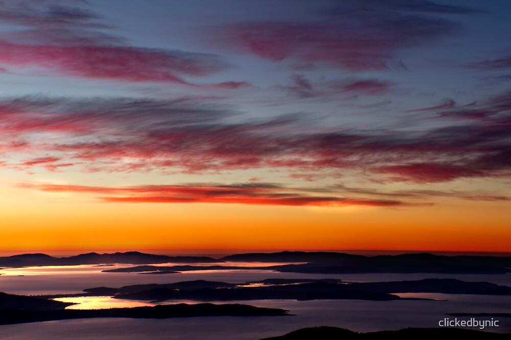 Derwent River Dawn - from Mount Wellington, Tasmania by clickedbynic