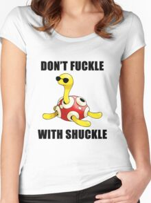 Don't Fuckle With Shuckle Women's Fitted Scoop T-Shirt