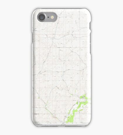 USGS Topo Map Washington State WA Plaza 362961 1980 24000 iPhone Case/Skin