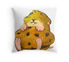 Clever hamster Throw Pillow