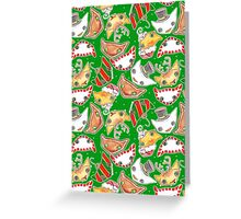 """Oro?"" Christmas Series Green Greeting Card"