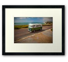 VW Campervan – Green Dream Machine Framed Print