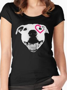 Heart over eye Pittie Women's Fitted Scoop T-Shirt