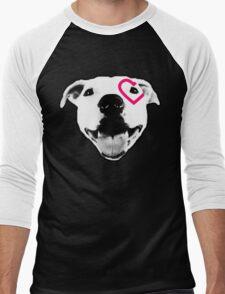 Heart over eye Pittie Men's Baseball ¾ T-Shirt