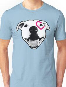 Heart over eye Pittie Unisex T-Shirt