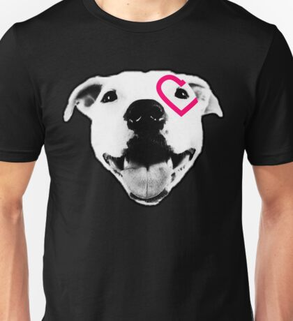 Heart over eye Pittie Unisex T-Shirt