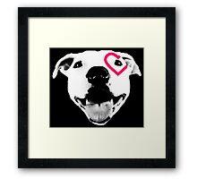 Heart over eye Pittie Framed Print