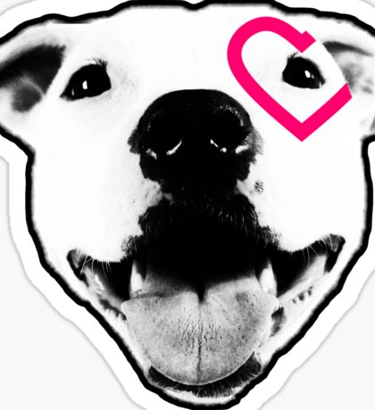 Heart over eye Pittie Sticker