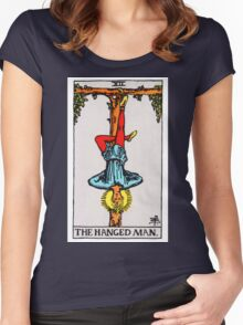 Tarot Card - The Hanged Man Women's Fitted Scoop T-Shirt