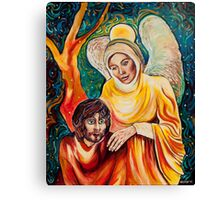Angel in Gold Canvas Print
