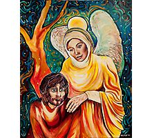 Angel in Gold Photographic Print