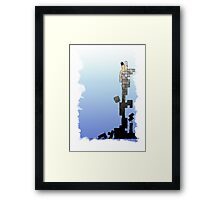 Queen of Blocks (Colored) Framed Print