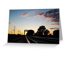 Trestle at Twilight Greeting Card