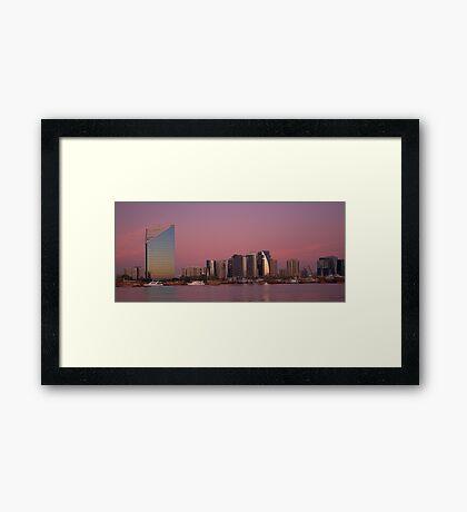 Dubai Creek at Dusk Framed Print