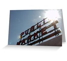 Public Market Sign Greeting Card