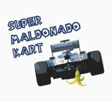 Super Maldonado Kart - Blue Writing Kids Clothes
