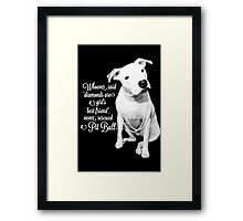 Girls Best Friend Rescued Pit Bull Framed Print