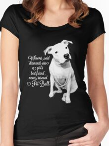 Girls Best Friend Rescued Pit Bull Women's Fitted Scoop T-Shirt