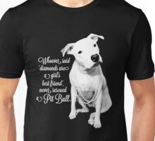 Girls Best Friend Rescued Pit Bull Unisex T-Shirt