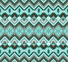 Christmassy Chevrons by Sidrah Mahmood
