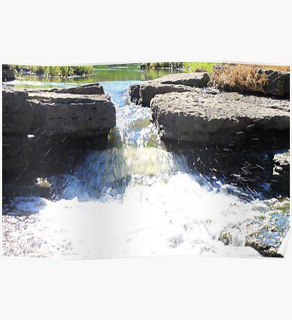 Lisle Waterfall Poster